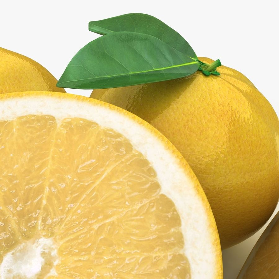 Grapefruit (Yellow) royalty-free 3d model - Preview no. 3