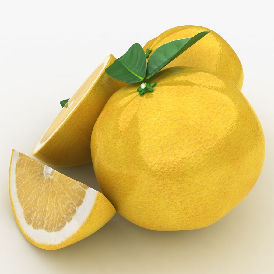 Grapefruit (Yellow) royalty-free 3d model - Preview no. 6