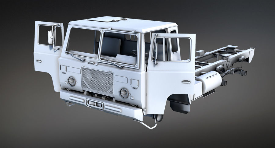 Army Truck (UVs abgebildet) royalty-free 3d model - Preview no. 8