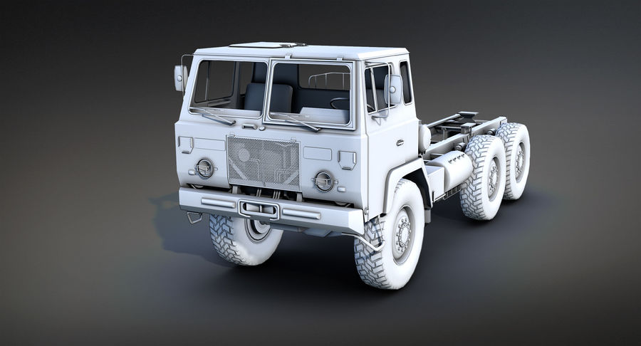 Army Truck (UVs abgebildet) royalty-free 3d model - Preview no. 2