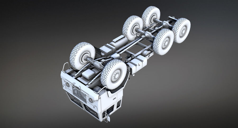 Army Truck (UVs abgebildet) royalty-free 3d model - Preview no. 6
