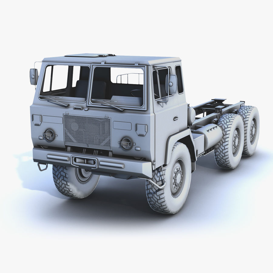 Army Truck (UVs abgebildet) royalty-free 3d model - Preview no. 1