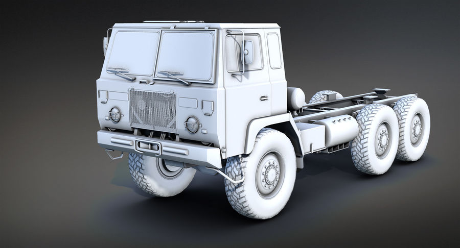 Army Truck (UVs abgebildet) royalty-free 3d model - Preview no. 7