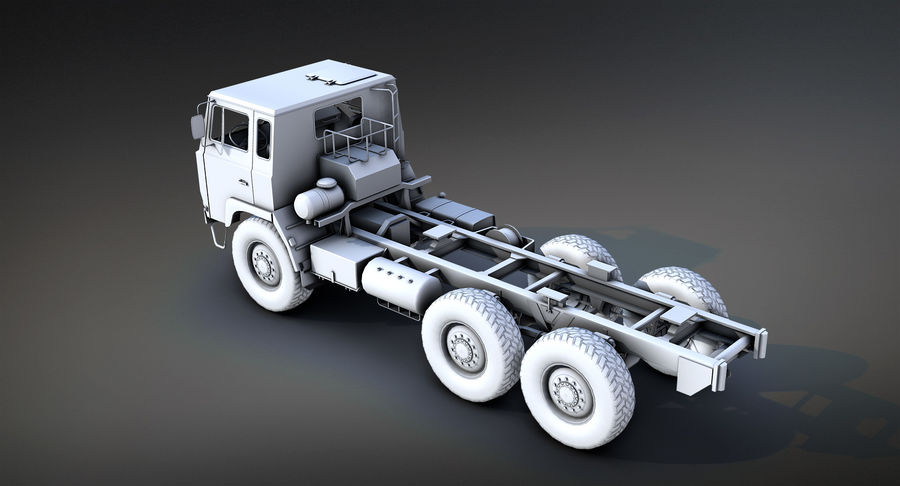 Army Truck (UVs abgebildet) royalty-free 3d model - Preview no. 4
