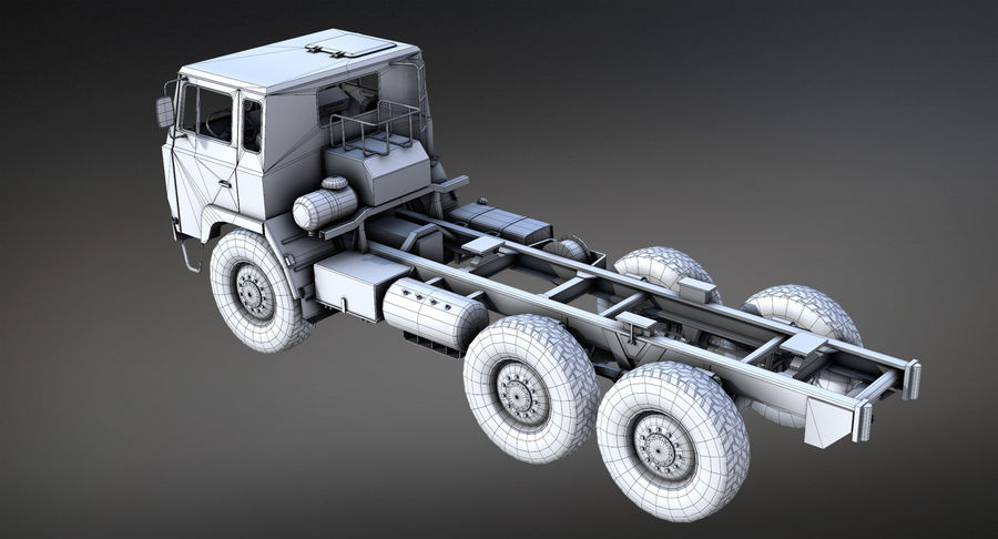 Army Truck (UVs abgebildet) royalty-free 3d model - Preview no. 10