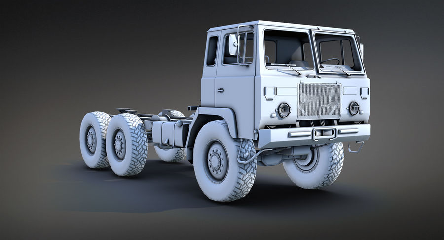 Army Truck (UVs abgebildet) royalty-free 3d model - Preview no. 5