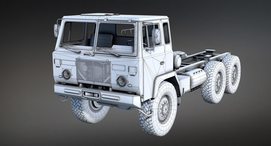 Army Truck (UVs abgebildet) royalty-free 3d model - Preview no. 9