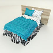 Turquoise Bed 3d model