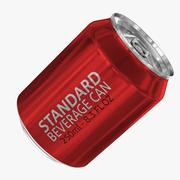 250ml 8.3oz Standard Beverage Can 3d model