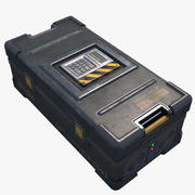 Sci-fi Military Safe Crate Container 3d model