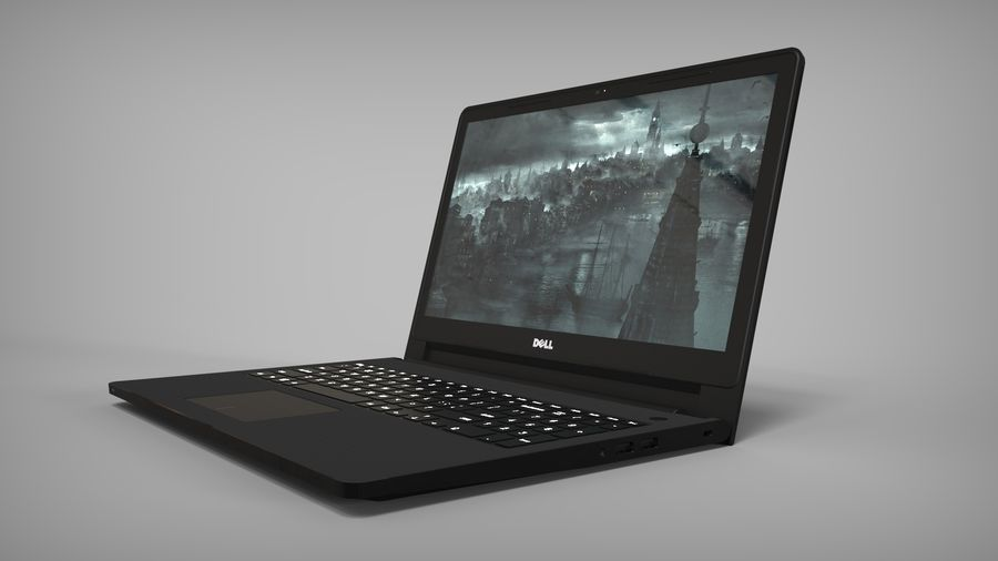 Dell Inspiron 3552 royalty-free 3d model - Preview no. 3