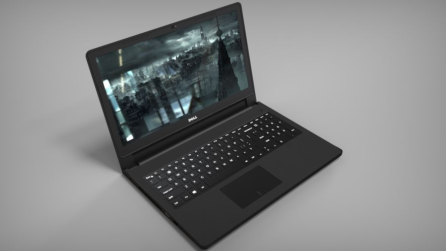 Dell Inspiron 3552 royalty-free 3d model - Preview no. 4