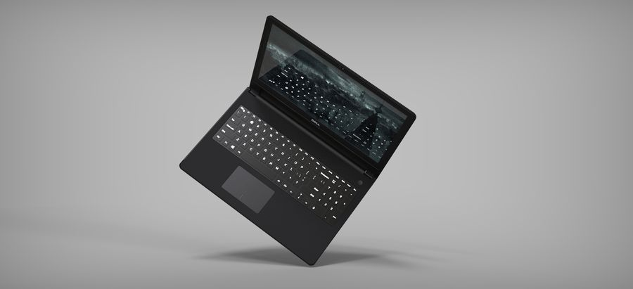 Dell Inspiron 3552 royalty-free 3d model - Preview no. 6