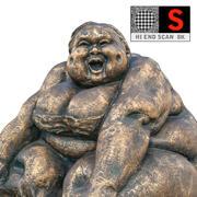 Statuette en bronze 3d model