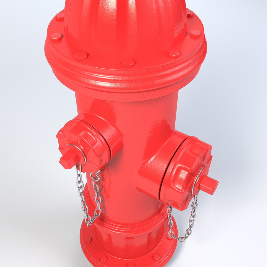 Fire Hydrant royalty-free 3d model - Preview no. 7