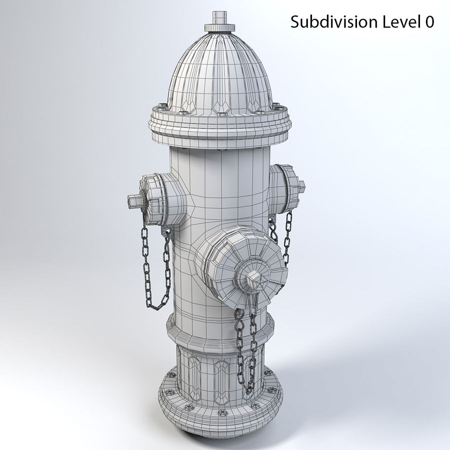 Fire Hydrant royalty-free 3d model - Preview no. 10