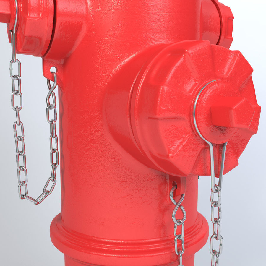 Fire Hydrant royalty-free 3d model - Preview no. 8