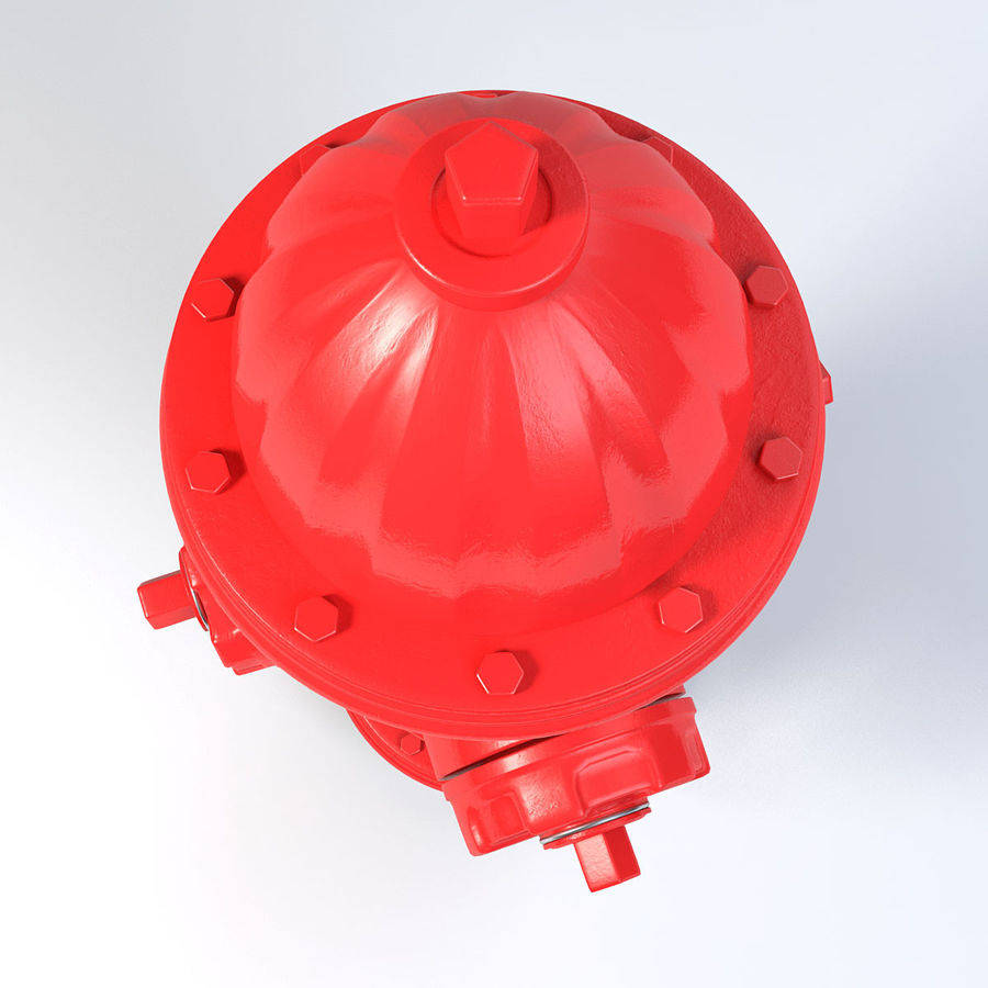 Fire Hydrant royalty-free 3d model - Preview no. 5