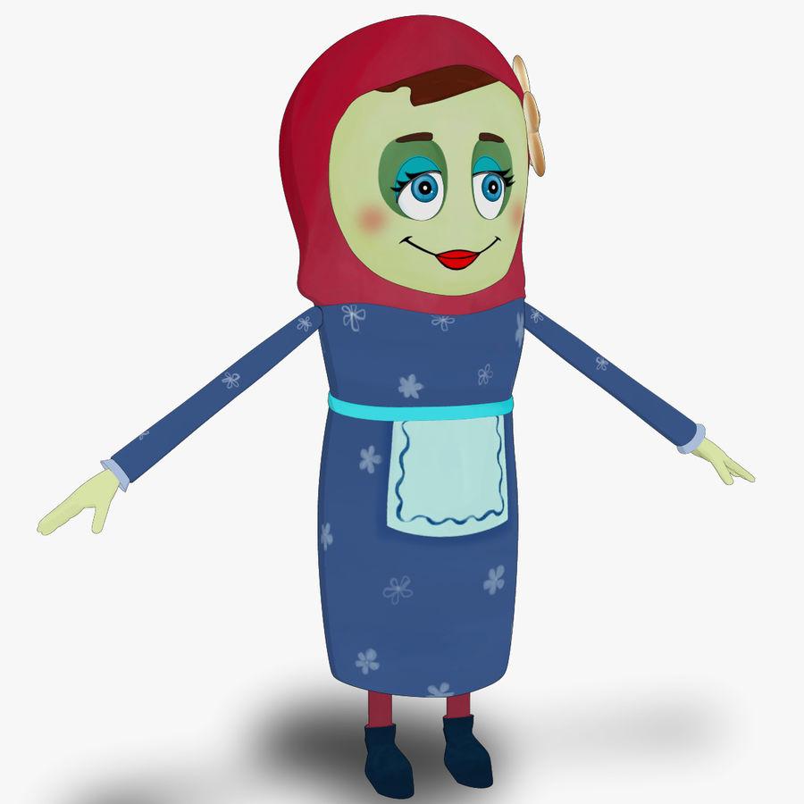 Низкополигональный персонаж без мамы royalty-free 3d model - Preview no. 3