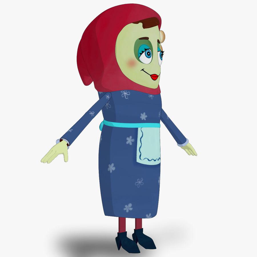 Низкополигональный персонаж без мамы royalty-free 3d model - Preview no. 4