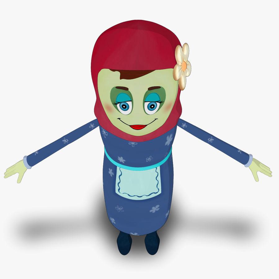 Низкополигональный персонаж без мамы royalty-free 3d model - Preview no. 9
