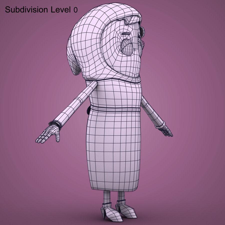 Низкополигональный персонаж без мамы royalty-free 3d model - Preview no. 15