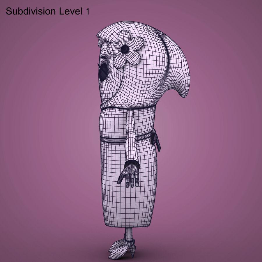 Низкополигональный персонаж без мамы royalty-free 3d model - Preview no. 24