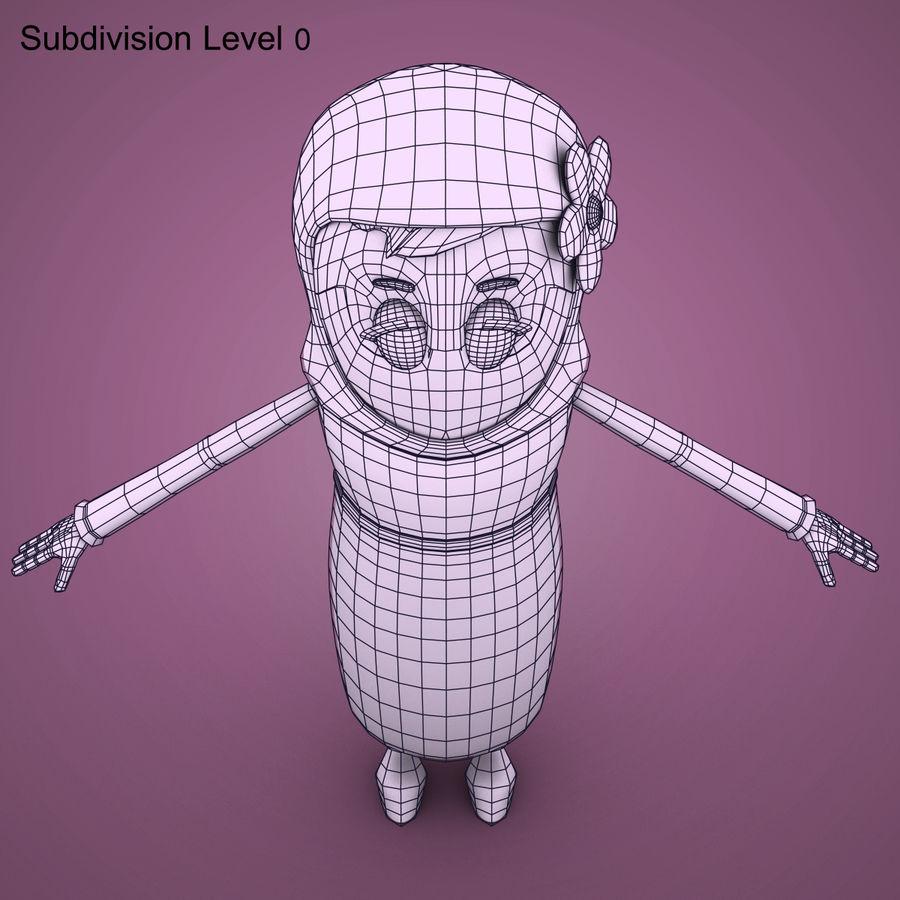 Низкополигональный персонаж без мамы royalty-free 3d model - Preview no. 21