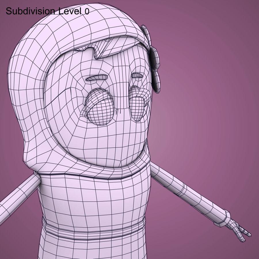 Низкополигональный персонаж без мамы royalty-free 3d model - Preview no. 25