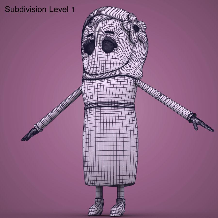Низкополигональный персонаж без мамы royalty-free 3d model - Preview no. 20
