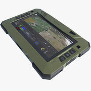 Militaire tactische robuuste tablet 3d model