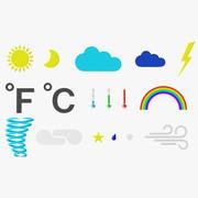 Symboles de météorologie 3d model