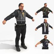 荒原2-手枪装祭司 3d model