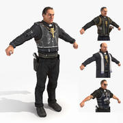 Wasteland 2 - Pistol Packin 'Rahipleri 3d model