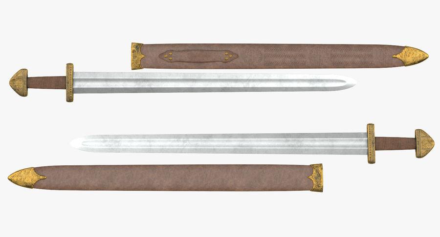 Viking Sword Set 3D Model royalty-free 3d model - Preview no. 4