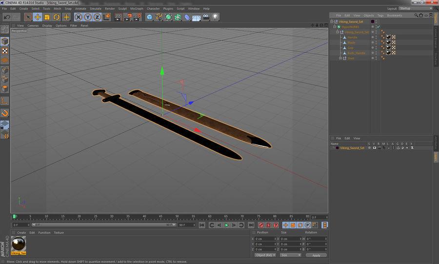 Viking Sword Set 3D Model royalty-free 3d model - Preview no. 20
