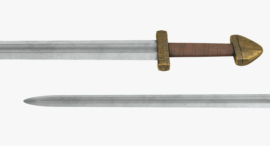 Viking Sword Set 3D Model royalty-free 3d model - Preview no. 7