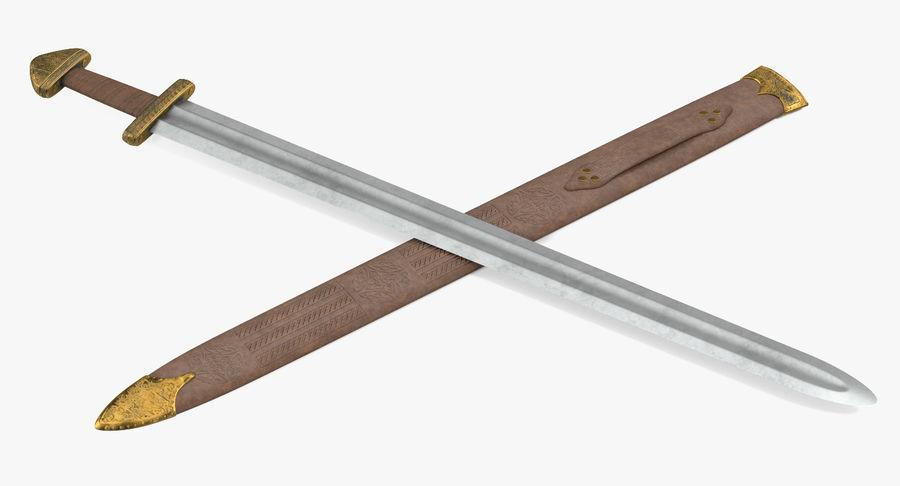 Viking Sword Set 3D Model royalty-free 3d model - Preview no. 9
