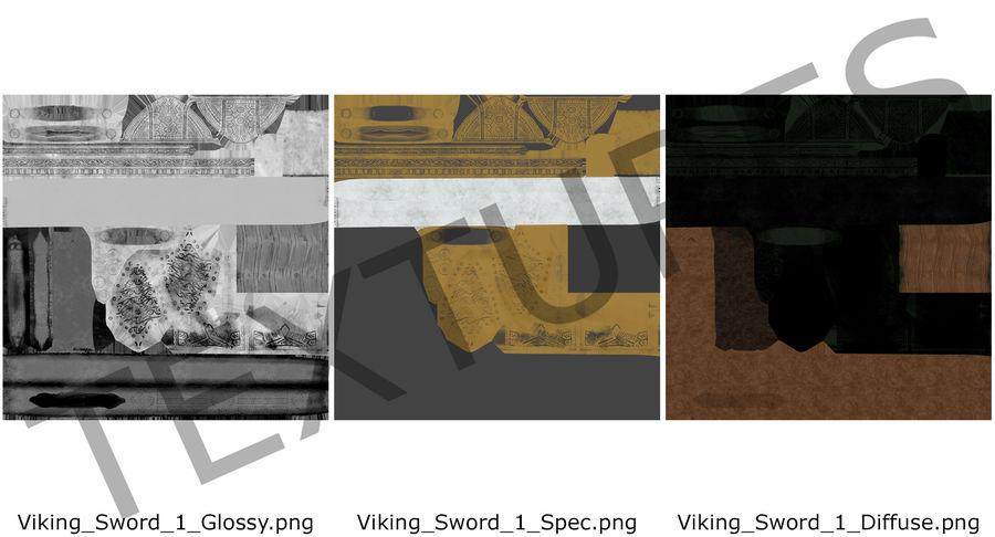 Viking Sword Set 3D Model royalty-free 3d model - Preview no. 18