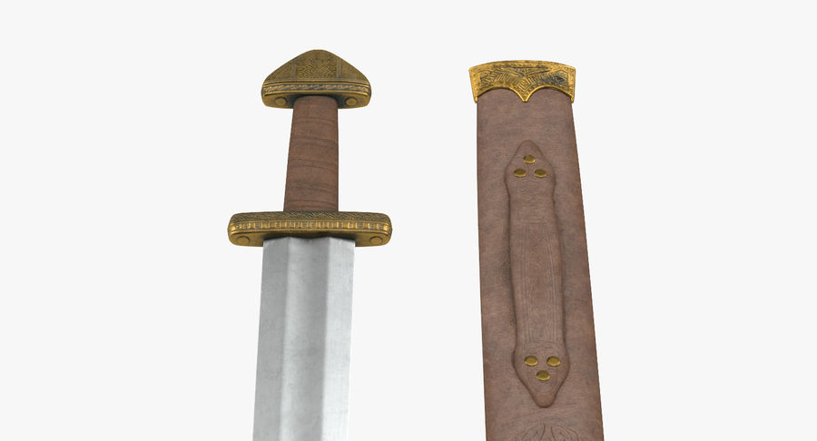 Viking Sword Set 3D Model royalty-free 3d model - Preview no. 8