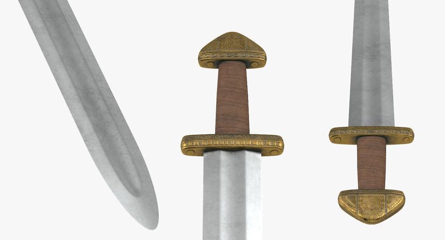 Viking Sword Set 3D Model royalty-free 3d model - Preview no. 11