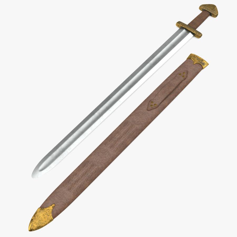 Viking Sword Set 3D Model royalty-free 3d model - Preview no. 2
