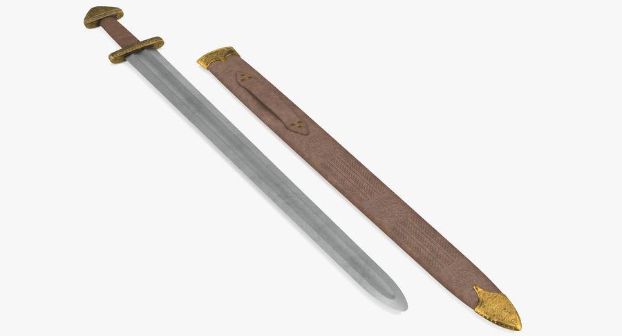 Viking Sword Set 3D Model royalty-free 3d model - Preview no. 3