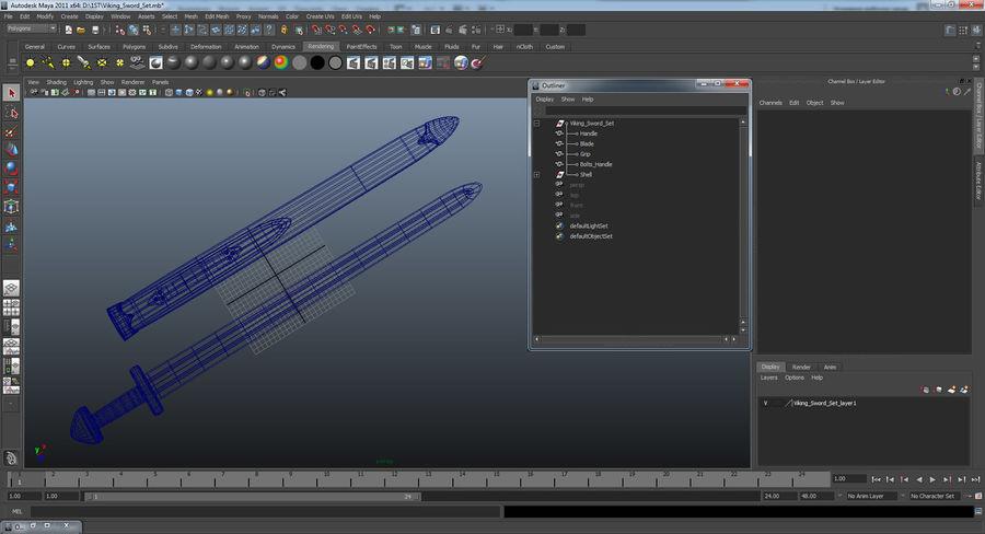 Viking Sword Set 3D Model royalty-free 3d model - Preview no. 21
