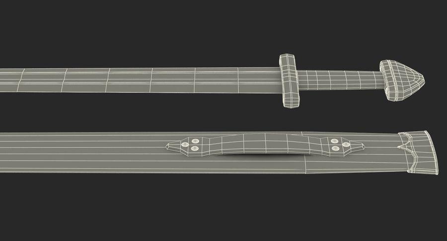 Viking Sword Set 3D Model royalty-free 3d model - Preview no. 25