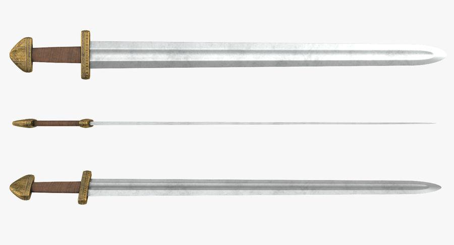 Viking Sword Set 3D Model royalty-free 3d model - Preview no. 10