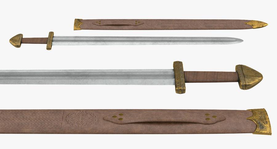Viking Sword Set 3D Model royalty-free 3d model - Preview no. 13