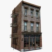 Budynek mieszkalny i restauracja. 3d model