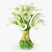 Calla Flower Bouquet 3d model