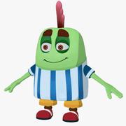 Низкополигональный персонаж без бобов 3d model